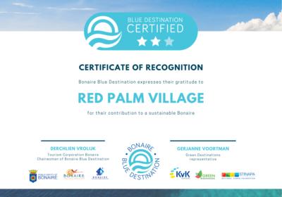 BBD Certificaat - Red Palm Village